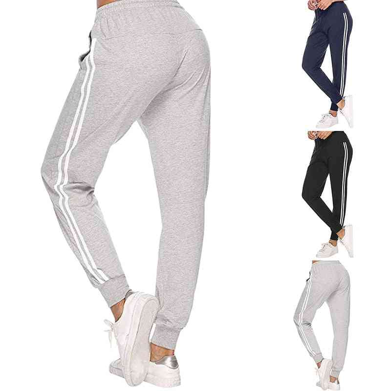 Women's Lightweight Sweatpants-casual Sports Trousers With White Stripe
