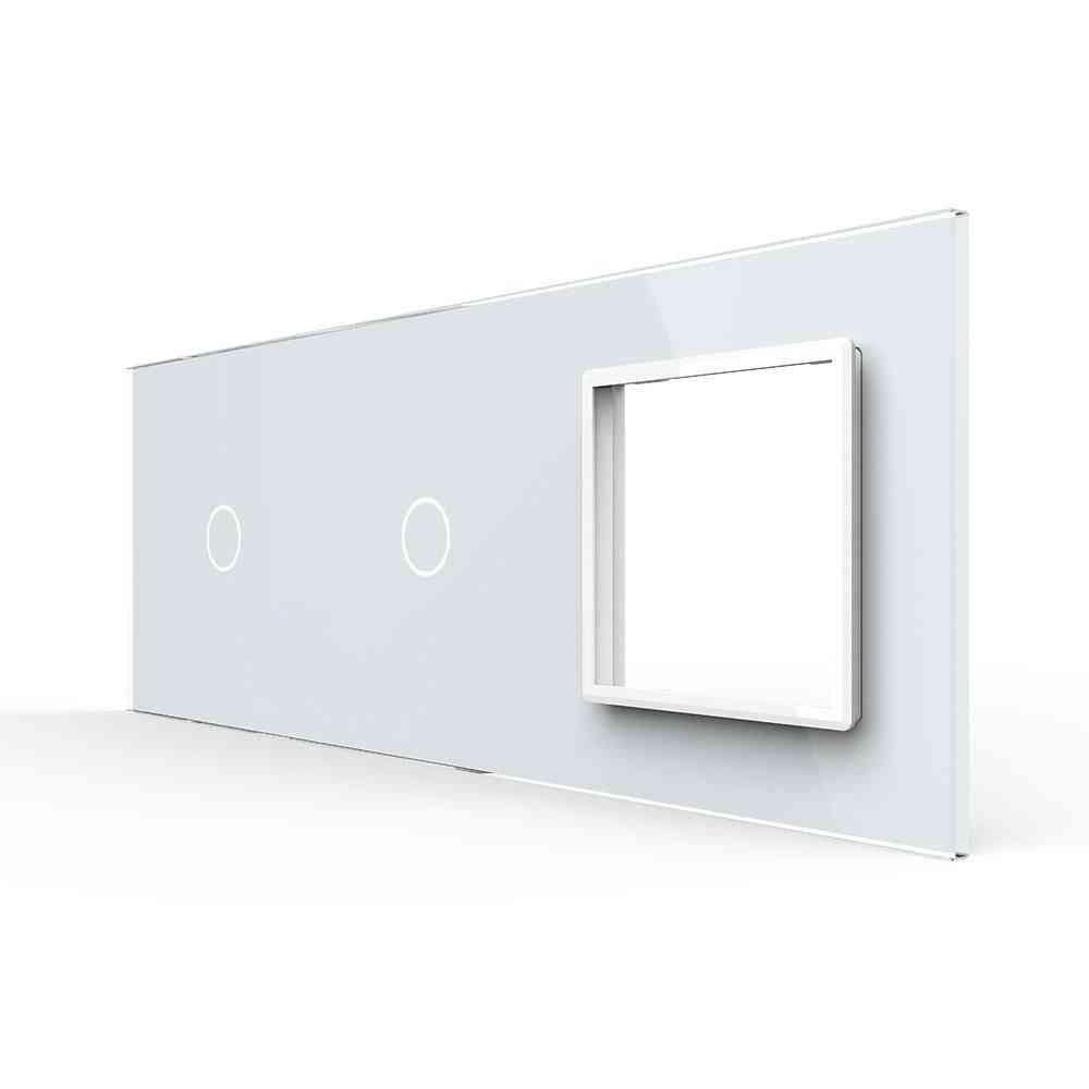 2gang & 1 Frame Pearl Crystal Glass-eu Standard
