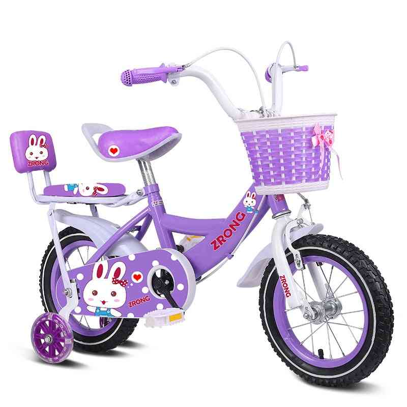 Children's Bicycle Balance Bike, With Big Steel Wheel, And Back Seat