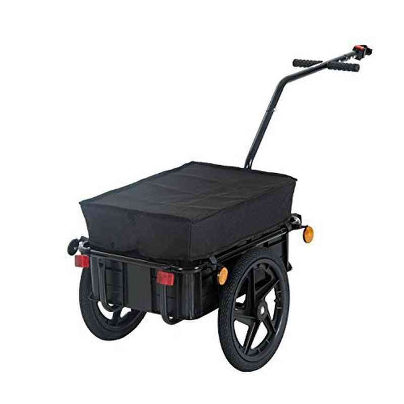 Air Wheel Bicycle Trailer With Suitcase-large Capacity Enclosed Cargo