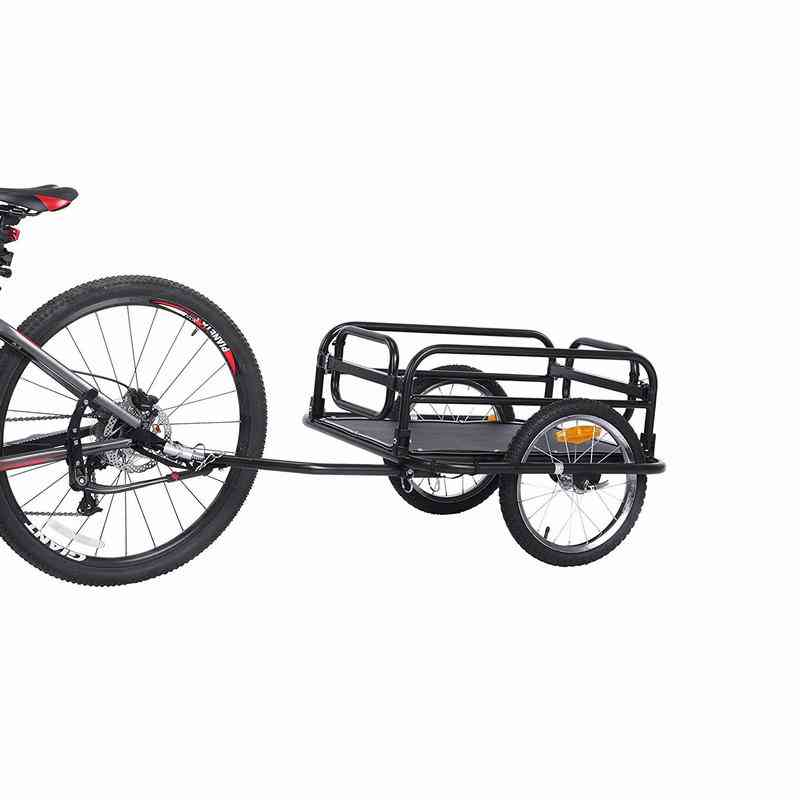 Big Wheel Bicycle Trailer, Large Capacity Foldable Cargo Air Wagon For Outdoor Camping