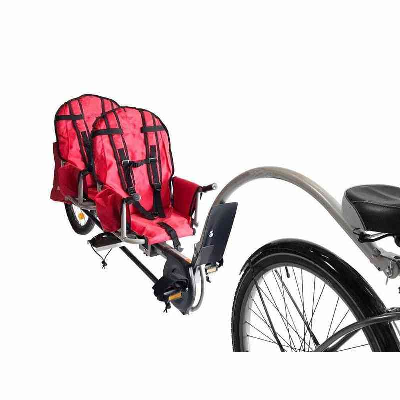 Twins Bicycle Trailer With Connector For Kids