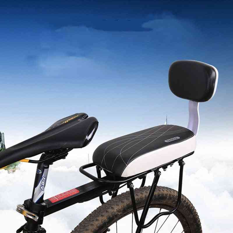 Bicycle Back Seat, Cycling Bike Pu Leather Soft Cushion, Rear Rack For