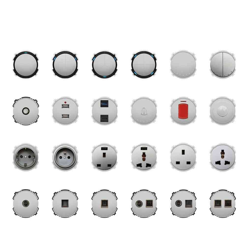Wall Light Switch Led Indicator, Power Socket Electrical Outlet Function Key Only