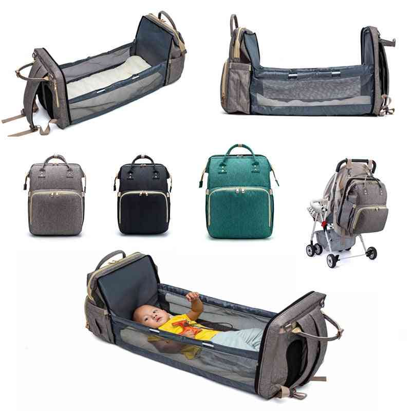 Portable Multi Functional Backpack Bed  And Travel Crib-diaper Purse
