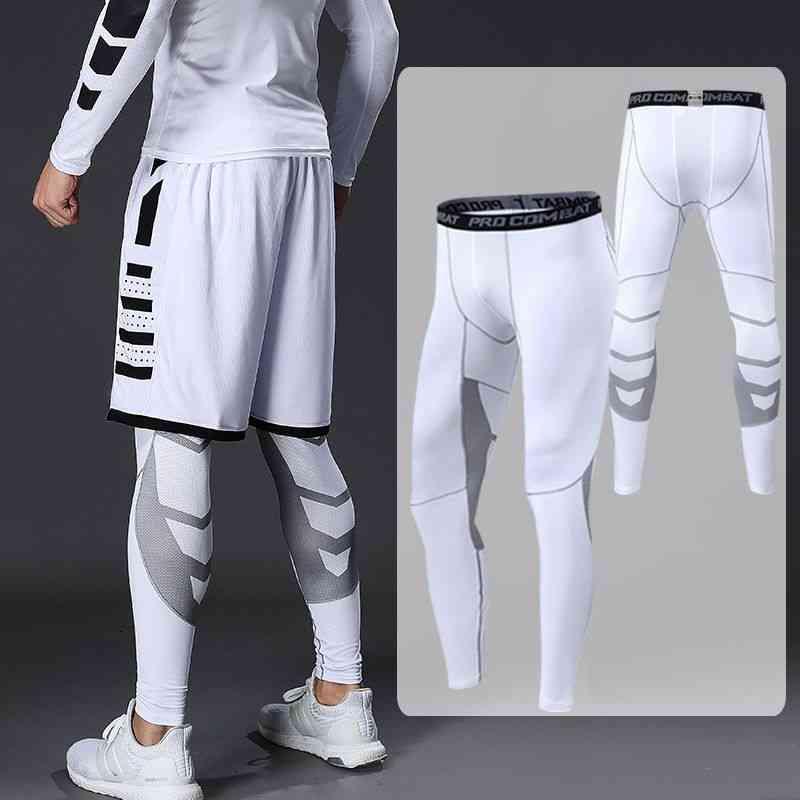 Compression Sports Leggings, Tights Men Elastic Gym Fitness Pants