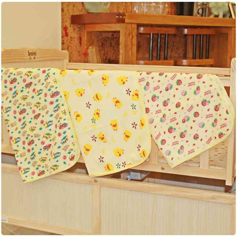 Baby Kids Waterproof Mattress, Cotton Cartoon Print, Useful Bed Sheet
