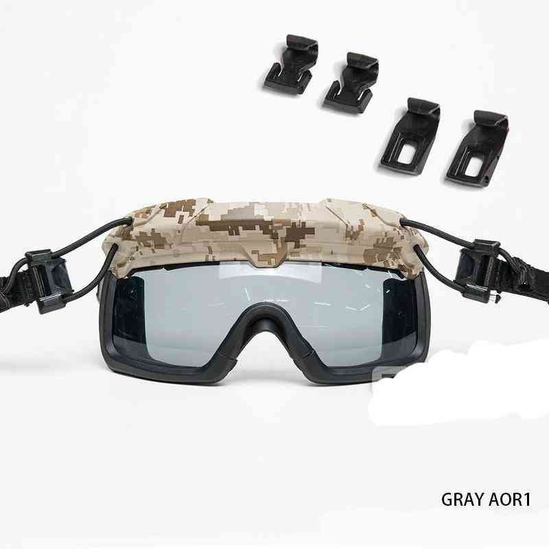 Safety Goggles For Tactical Helmet Protective Anti Fog Glasses