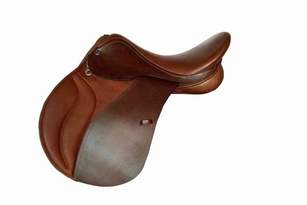 Horse Riding Saddle, Cow Leather Integrated Synthetic Tourist Saddle