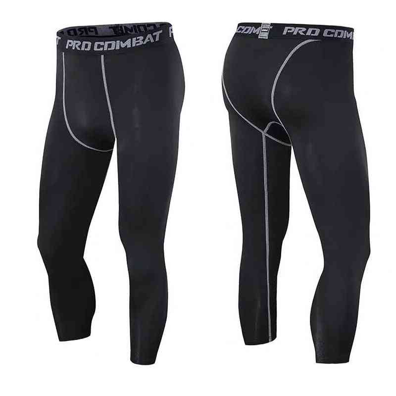 Men's Compression 3/4 Pants, Running Workout Tights