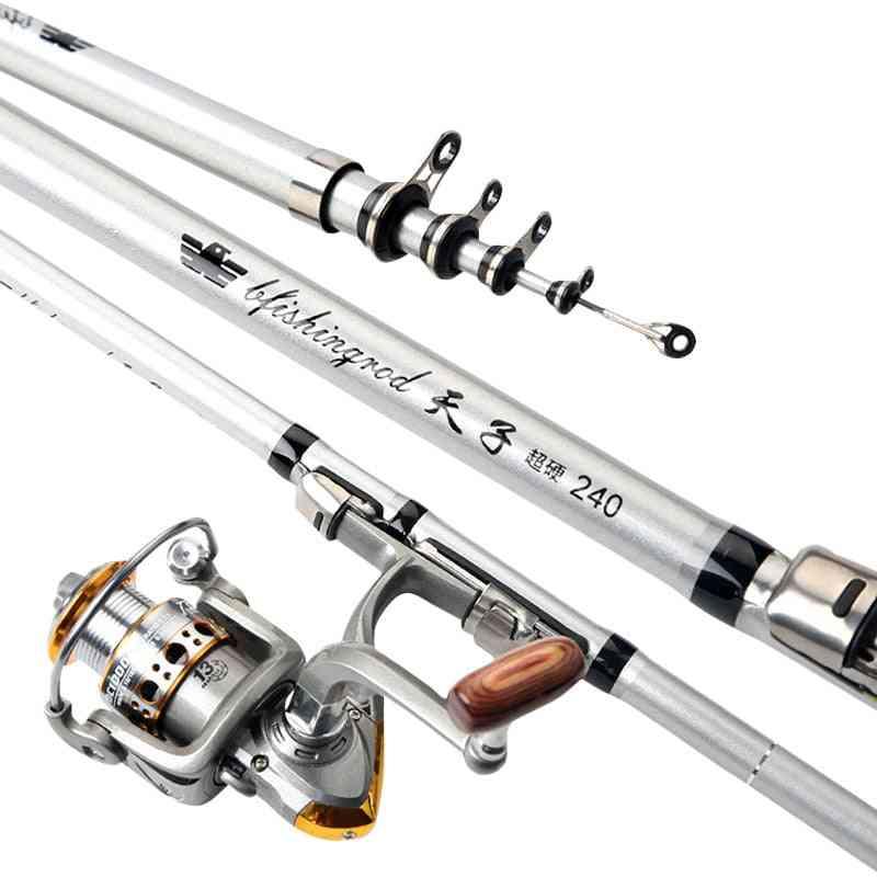 Fishing Rod Reel Travel Portable Sea Pole Tackle Set