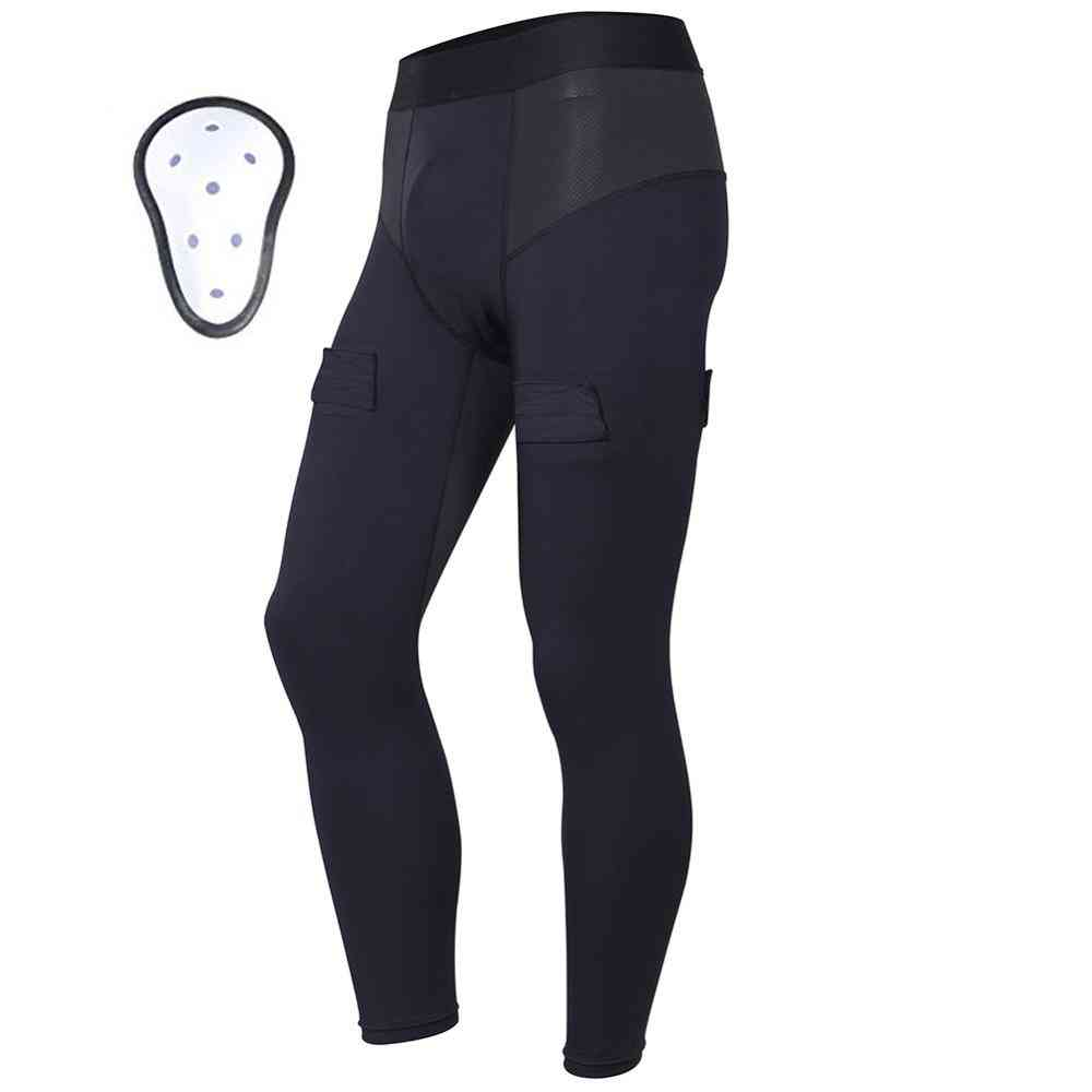 Compression Hockey Pants With Athletic Cup & Sock Tabs For