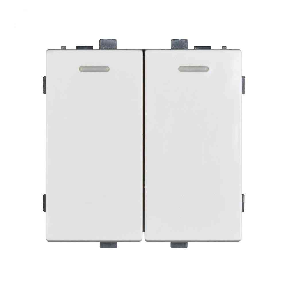 2 Gang Switch Socket Function Module Accessories Suitable For 86*86 Panels