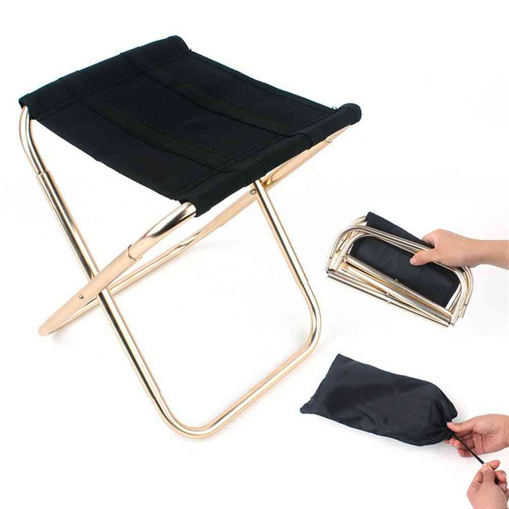 Outdoor Fishing Portable Chair, Folding Backpacker Cloth Camping Stool