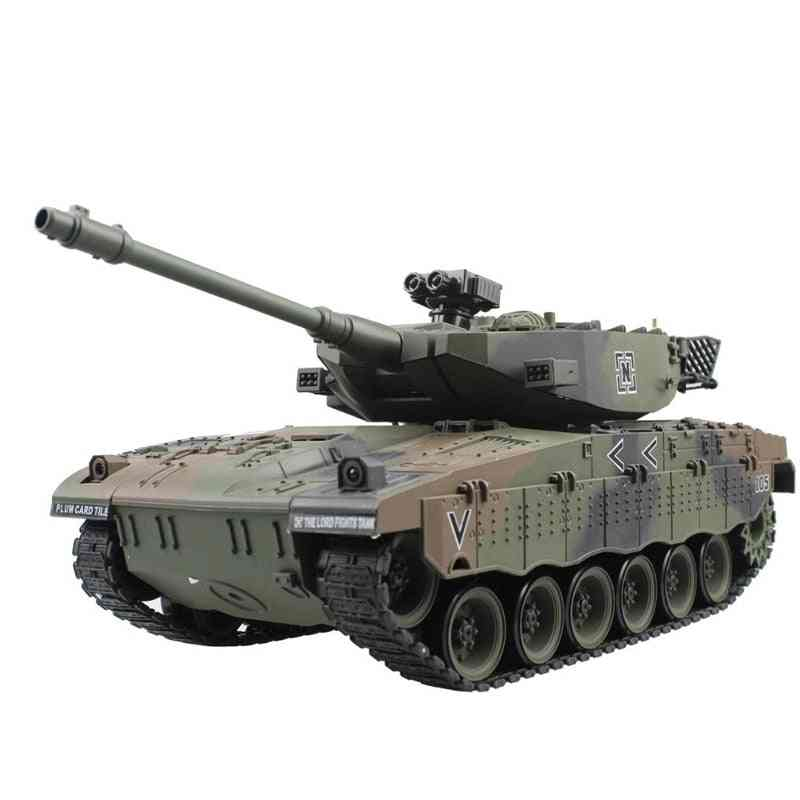 Rc Tank Tactical Vehicle Main Battle Military Model, Sound Recoil Electronic Hobby