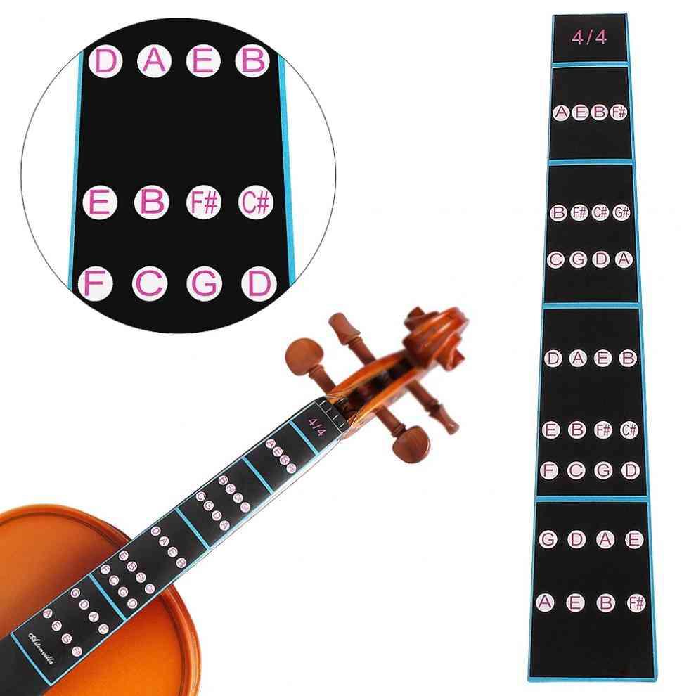 4/4 Violin Fingerboard Sticker- Fretboard Note Label Fingering Chart Practice