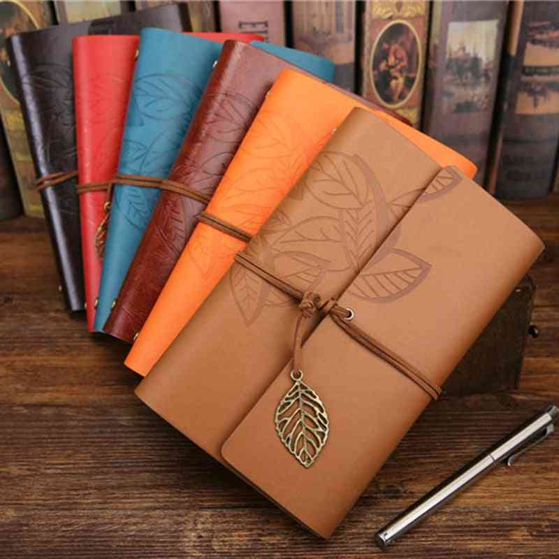 Mini Leather Bound Diary Notebook