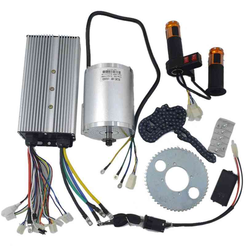 72v 3000w Brushless Motor Kit With 24 Mosfet 50a Controller