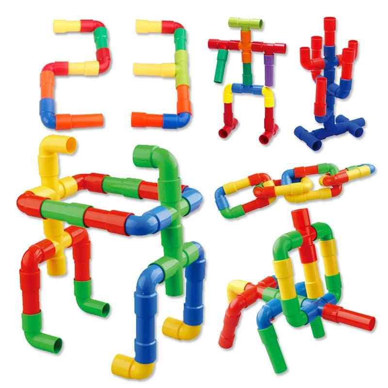 Tubular Construction Building Blocks -for Early Education