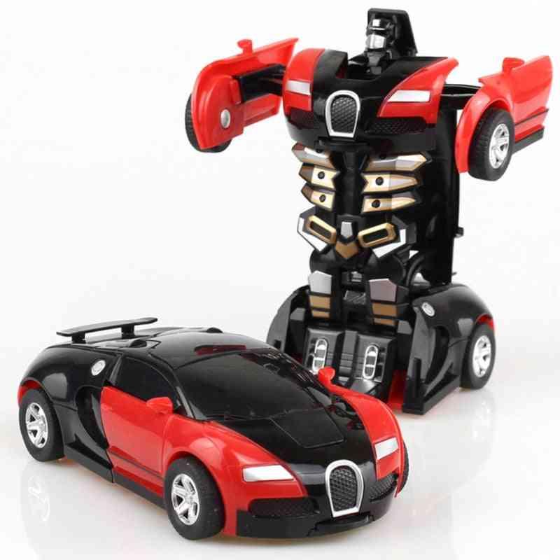 One-key Deformation Car, Automatic Transform Robot Plastic Model