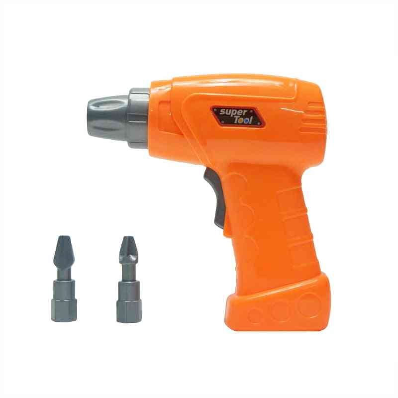 Plastic Simulation Maintenance Tool Electric Drill Education Toy