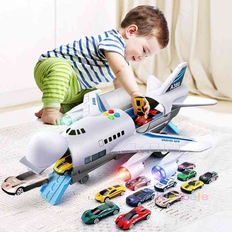Story Telling Cartoon Airplane And Car