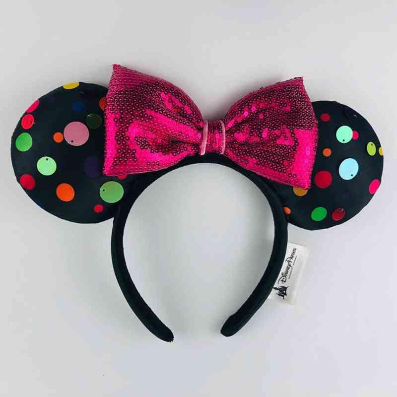 Disney 3d Minnie Mickey Ears Hair Hoop- Party Headwear For
