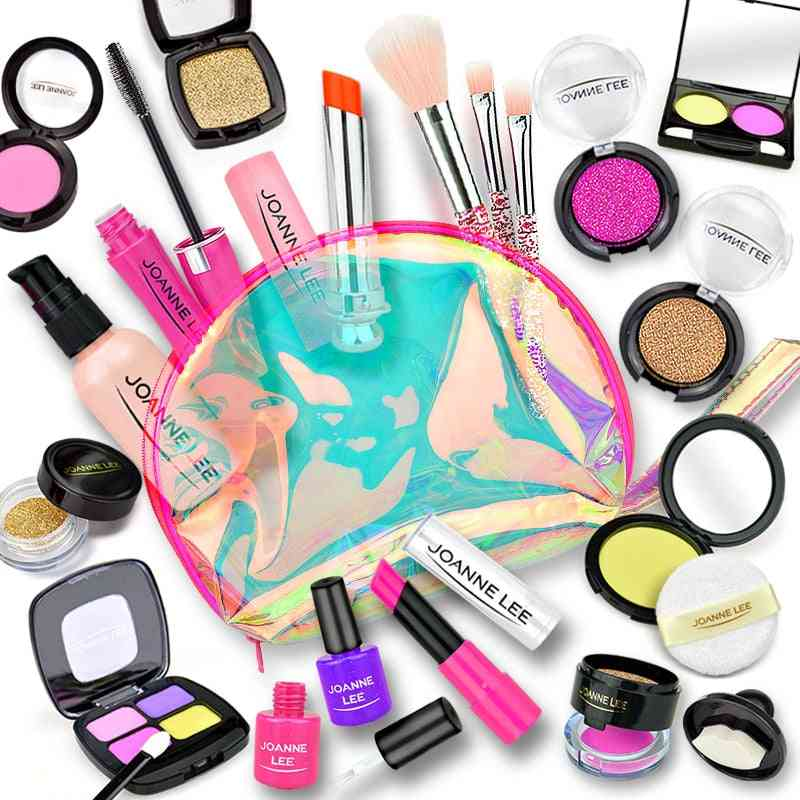 Girl Pretend Play Make Up Toy- Simulation Cosmetics Pink Set