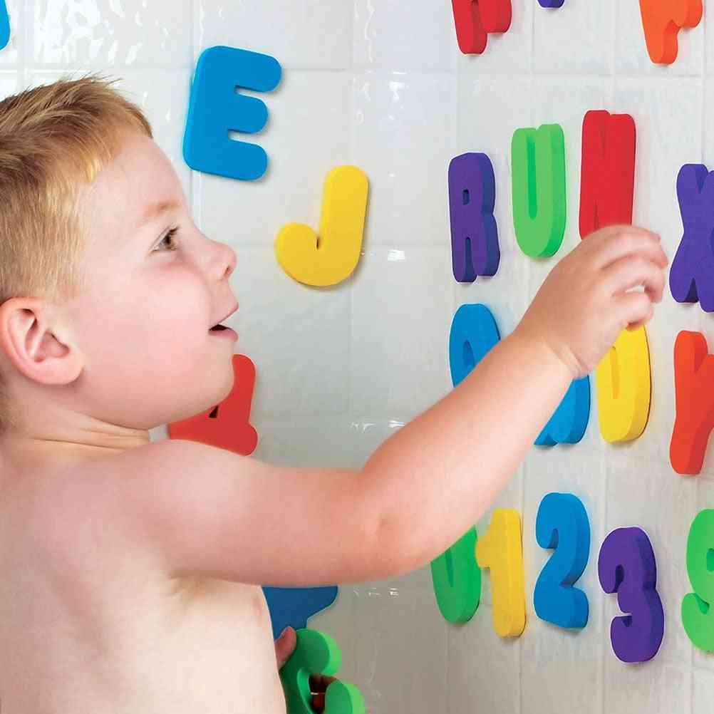 A-z Letters And 0-9 Numbers- Foam Floating Bath Tub Stickers For Kids
