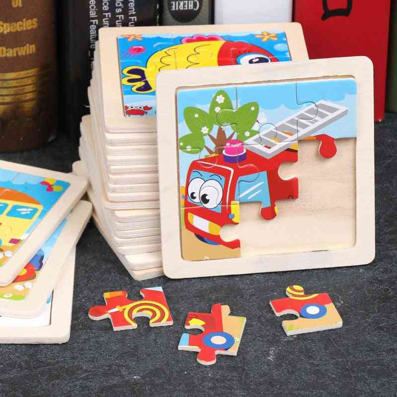 Wooden Puzzles Vehicle