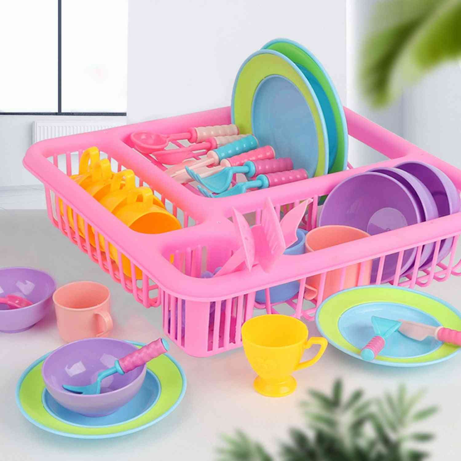 Kid's Pretend Dishes Set For Role Playing