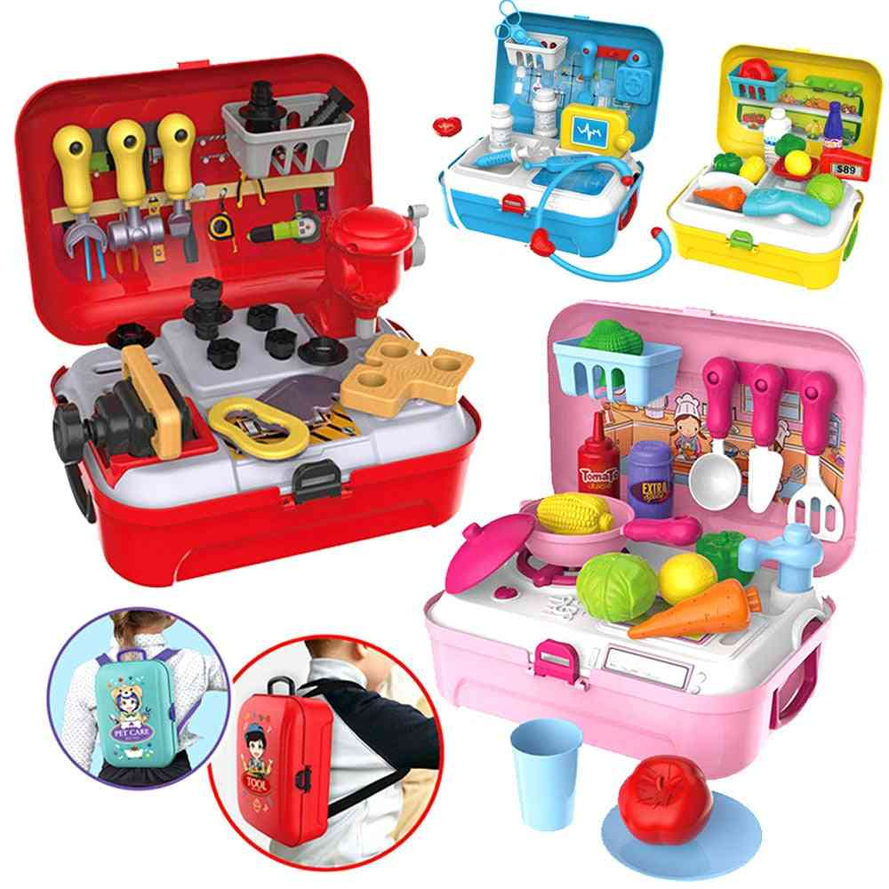 Role Play House, Portable Plastic Backpack Set