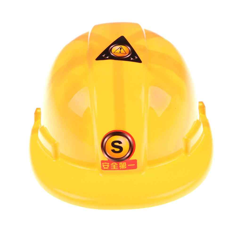 Simulation Safety Helmet-role Play Hat Toy