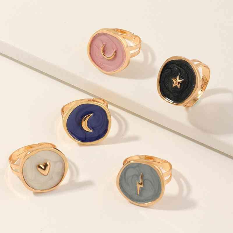 Round Shaped, Zinc Alloy Women Rings Jewelry