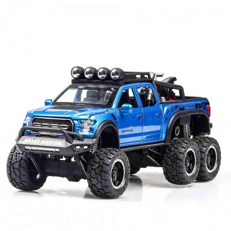 Ford Raptor, Big Wheel Alloy Diecast Model-pull Back Car For