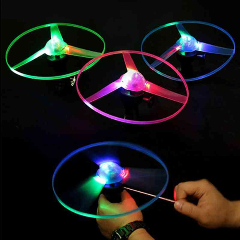 Outdoor Glow In The Dark Flashing, Pull String Led Light Ufo