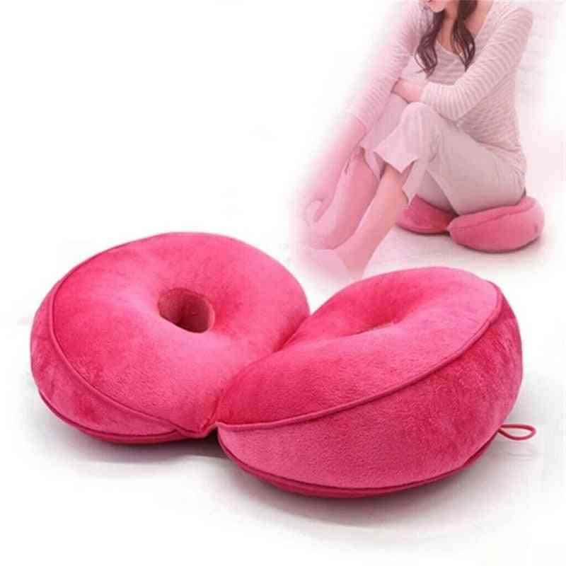Multi Functional Dual Comfort Seat Cushion For Relaxing Hips And Tailbone