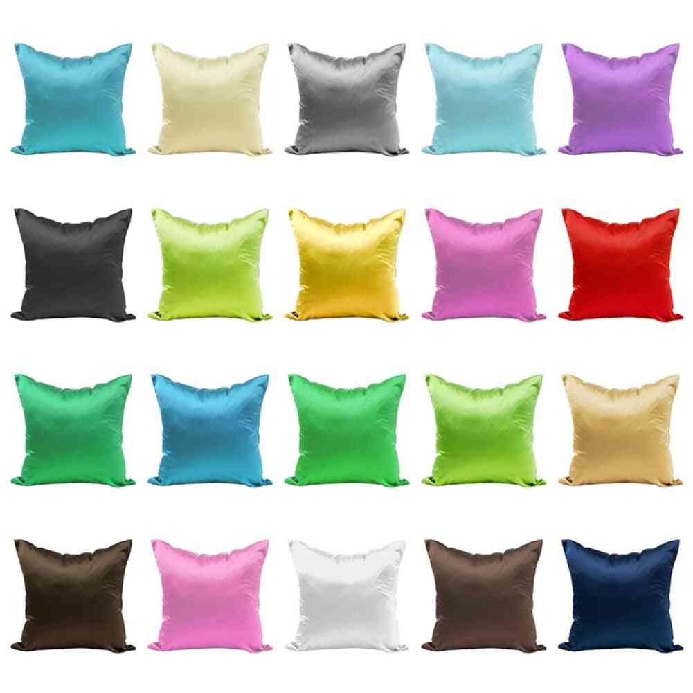 Shiny Pillow Case Cover With Hidden Zipper