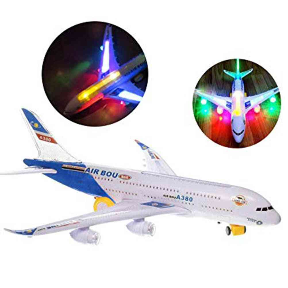 Electric Action Toy-airplane With Lights And Sounds For Kids