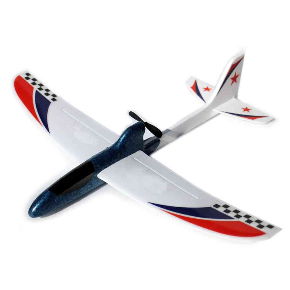 Flying Glider Foam, Mini Drone Capacitor Hand Throwing Electronic Plane