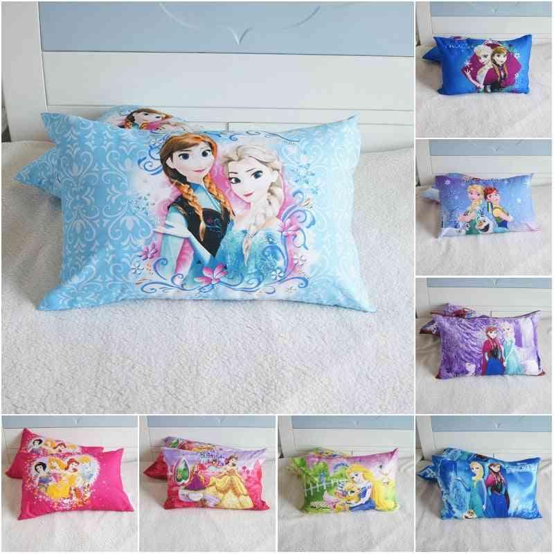 Disney Cartoon Princess Frozen Pillowcases, Pillow Cover Pair