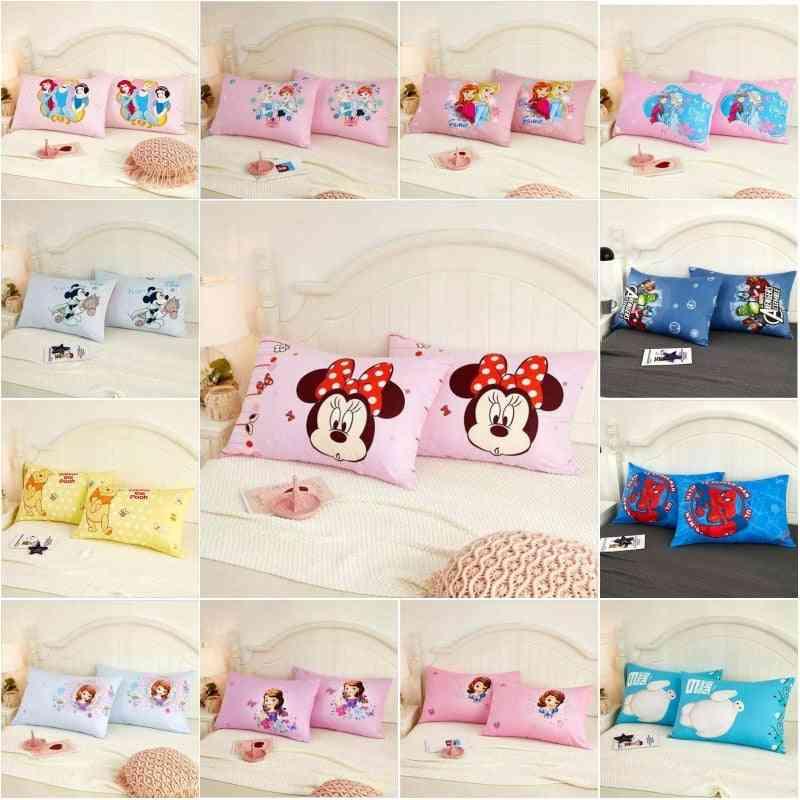 Cotton Cartoon Minnie, Mickey, Frozen, Princess & Sophia Baby Pillowcases