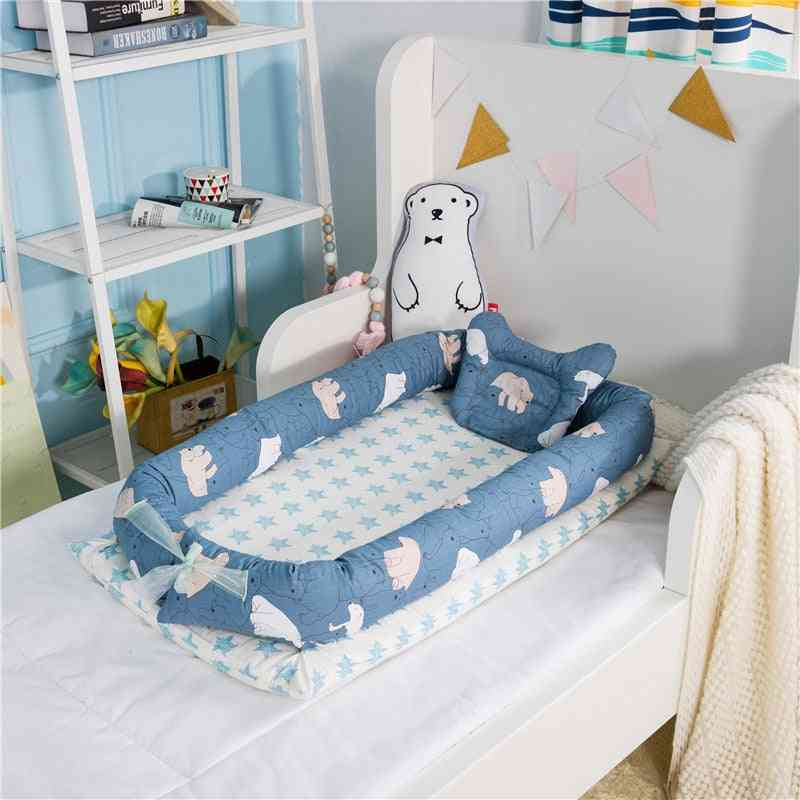Portable Newborn Travel Babynest, Isolation Sleep Cotton Cradle