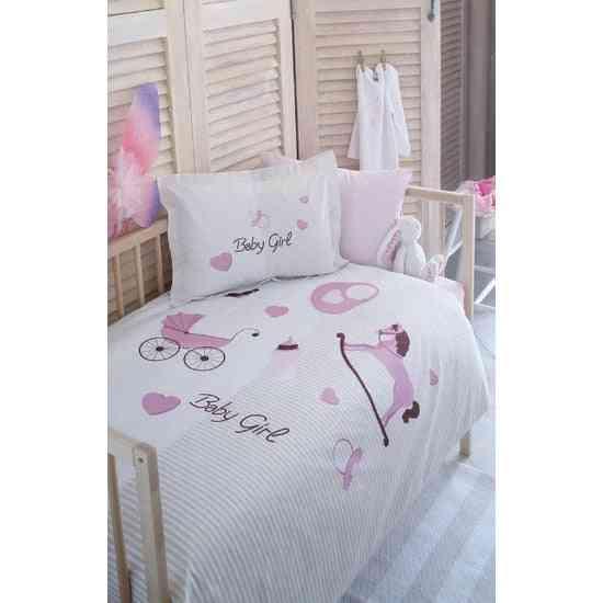 Baby Girl Bed Duvet Cover Set