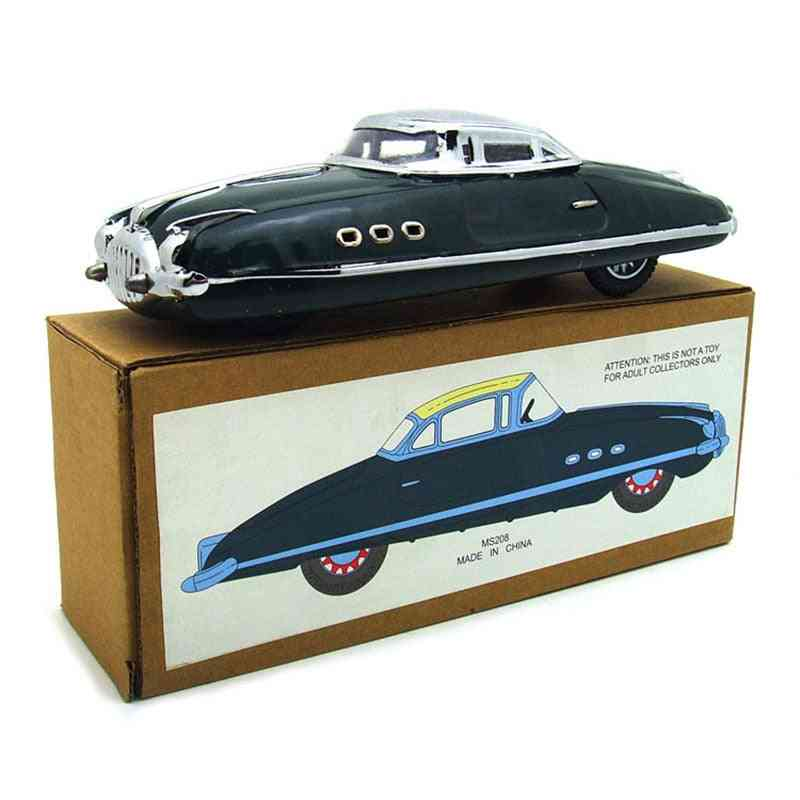 Childhood Tinplate Winder Cars, Vintage Handmade Crafts Collection Figure Metal