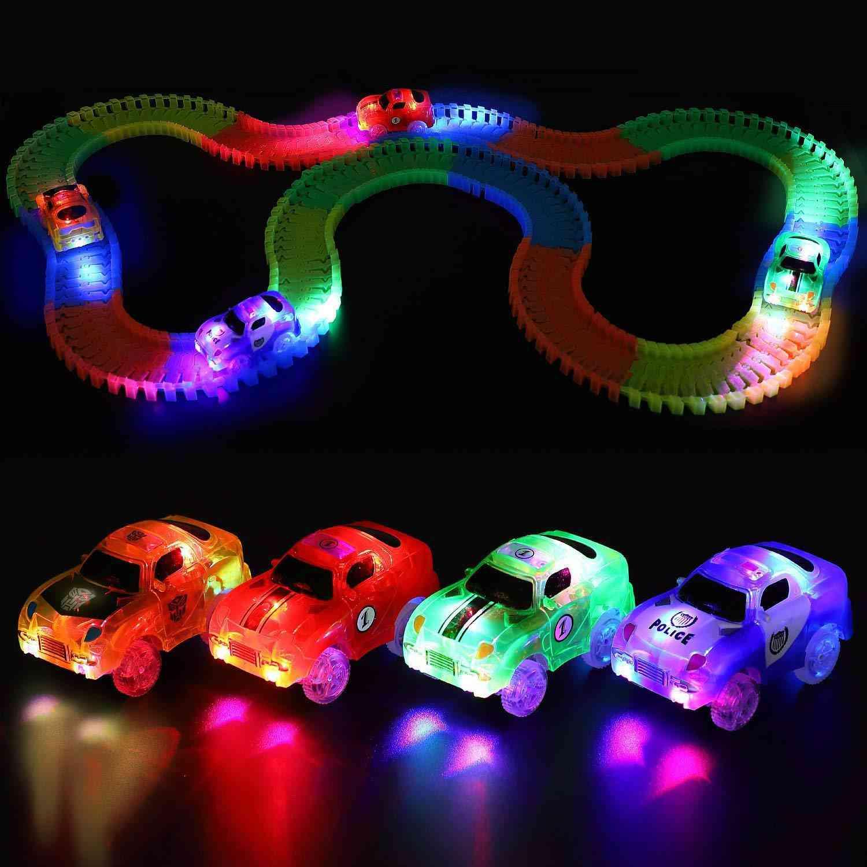 Magic Electronics Led Car With Flashing Lights, Glow Racing Toy