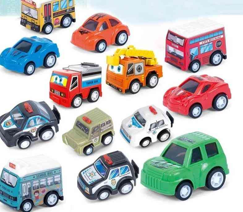 Vehicle Pull Back Car Plastic, Christmas New Year's Educational