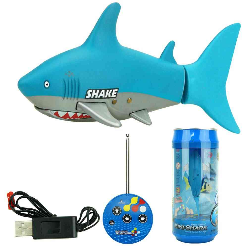 3310b 3ch Rc Shark Durable Fish Boat Submarine- Mini Radio Remote Control Electronic Toy