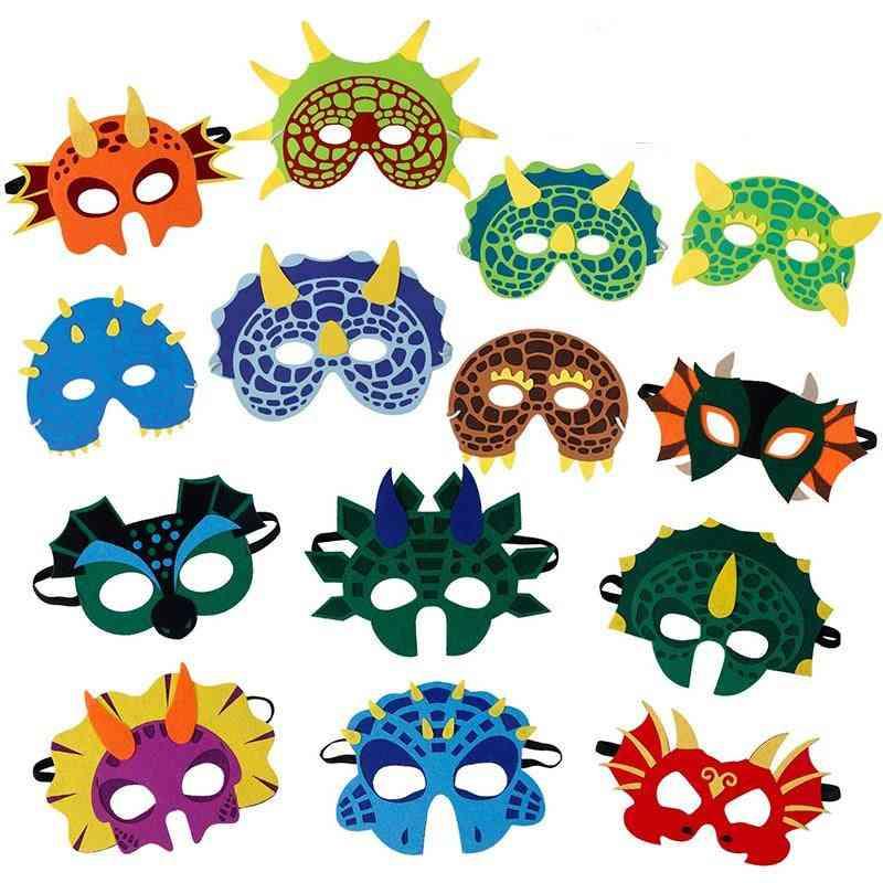 Dinosaur Design Masks For Halloween Themed Party