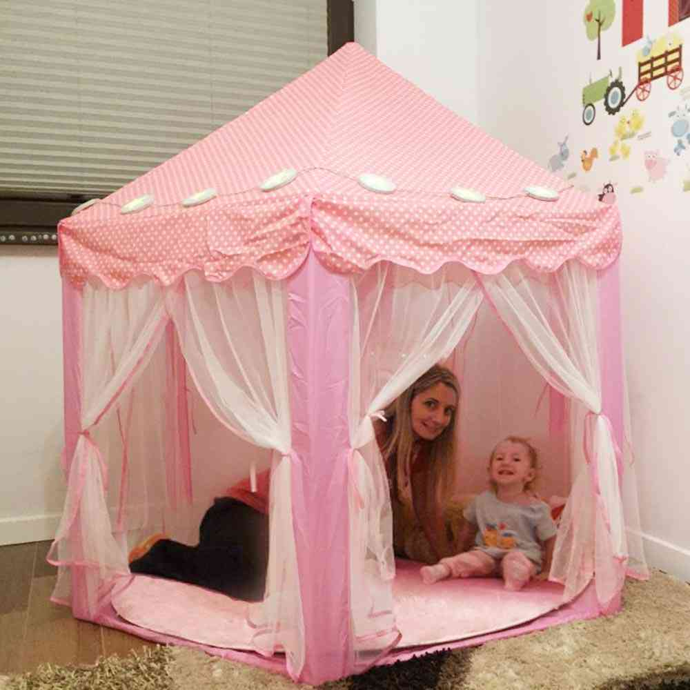 Portable's Tent Toy-ball Pool Princess Girl's Castle, Play-house For Kids Small-house Foldable Playtent